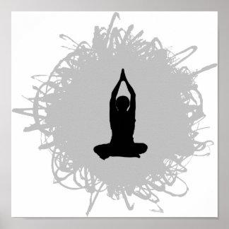Estilo del garabato de la yoga poster