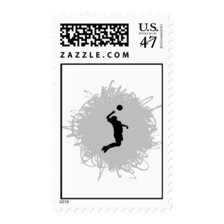 Estilo del garabato del voleibol (varón) timbres postales