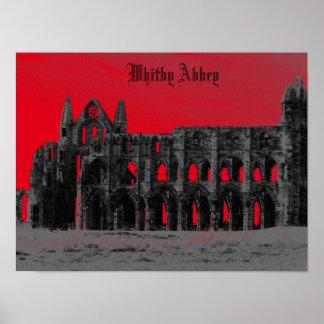 Estilo del gótico de la abadía de Whitby Poster