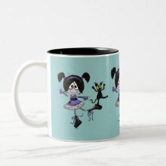 Estilo del gótico de la bailarina tazas de café