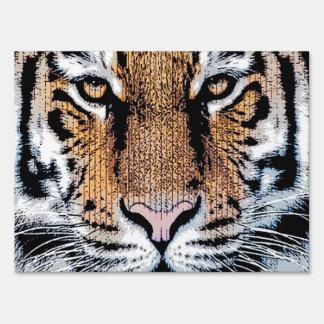 Estilo del gráfico del retrato del tigre cartel