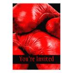 Estilo del Grunge del boxeador de los guantes de b Invitacion Personalizada