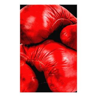 Estilo del Grunge del boxeador de los guantes de b Personalized Stationery