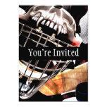 Estilo del Grunge del engranaje del hockey Invitación 12,7 X 17,8 Cm