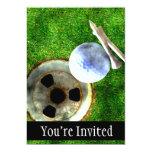 Estilo del Grunge del golf del juego Invitaciones Personales