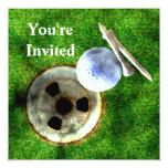 Estilo del Grunge del golf del juego Invitaciones Personalizada