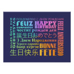Estilo del International del feliz cumpleaños Poster