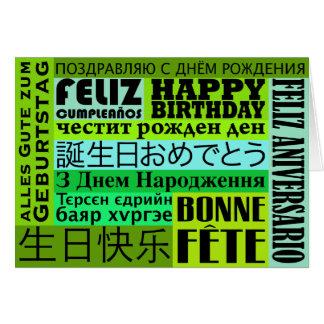 Estilo del International del feliz cumpleaños Tarjeta De Felicitación