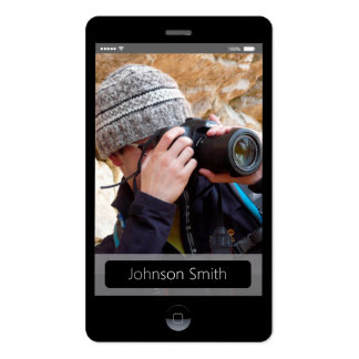 estilo del IOS del iPhone - perfil personal de la Tarjetas De Visita