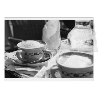 Estilo del italiano del café tarjeta