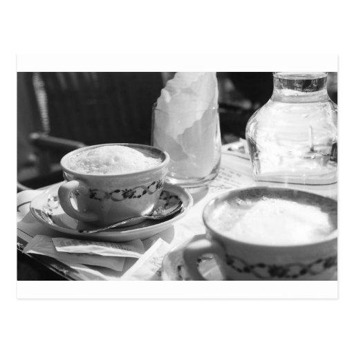 Estilo del italiano del café tarjetas postales