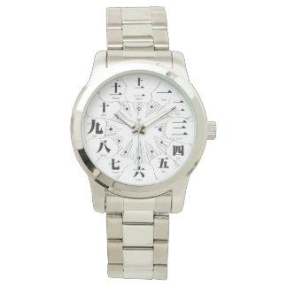 Estilo del kanji MANGA de Japón [cara blanca 2] Relojes De Mano