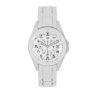 Estilo del kanji MANGA de Japón [cara blanca] Reloj