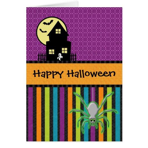 Estilo del libro de recuerdos del feliz Halloween Tarjeta De Felicitación