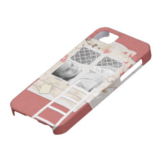 Estilo del libro de recuerdos del marco de la vent iPhone 5 Case-Mate protector
