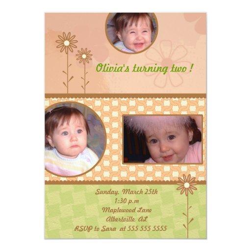 Estilo del libro de recuerdos - el cumpleaños de invitaciones personalizada