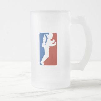 Estilo del logotipo de la liga tazas de café