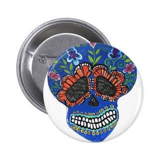 Estilo del mexicano de Halloween Pin Redondo 5 Cm