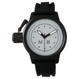 Estilo del monograma de los hombres reloj de mano