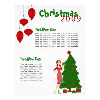Estilo del navidad tarjeta publicitaria