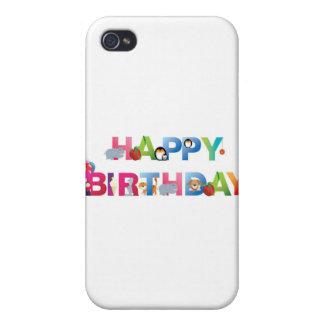 estilo del niño joven del feliz cumpleaños iPhone 4/4S carcasas