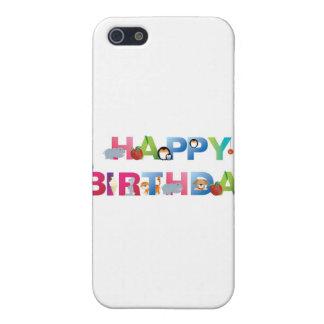 estilo del niño joven del feliz cumpleaños iPhone 5 cárcasa