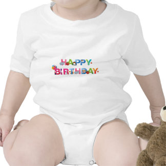 estilo del niño joven del feliz cumpleaños camiseta