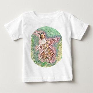 Estilo del pájaro del tarareo: Camiseta fina del