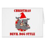 Estilo del perro de diablo del navidad del Cuerpo  Tarjetas