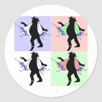 Estilo del rabino del baile pegatina redonda