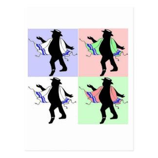 Estilo del rabino del baile postales
