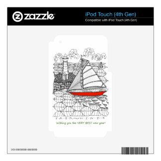 Estilo del rezo de los marineros de los vientos iPod touch 4G skin