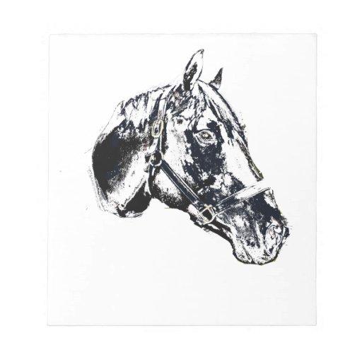estilo del sello de la cabeza de caballo bloc de notas