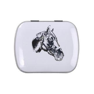 estilo del sello de la cabeza de caballo jarrones de caramelos