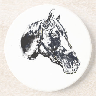 estilo del sello de la cabeza de caballo posavasos diseño