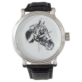 estilo del sello de la cabeza de caballo relojes de mano