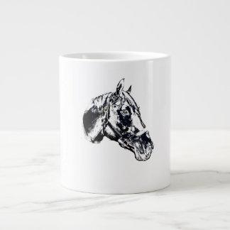 estilo del sello de la cabeza de caballo taza grande