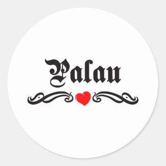 Estilo del tatuaje de Papúa Nueva Guinea Pegatina Redonda