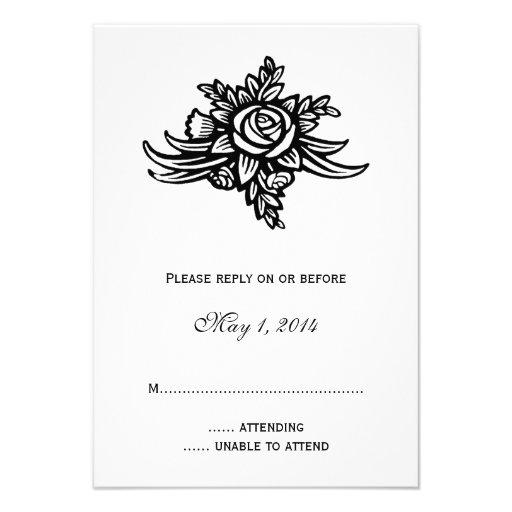 Estilo del tatuaje subió casando la invitación RSV