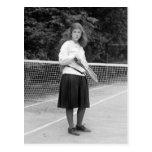 estilo del tenis de los años 20 tarjetas postales