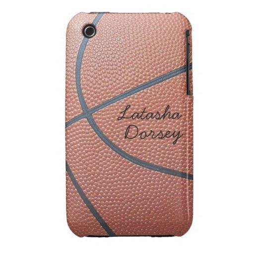 Estilo del texture_Autograph de Spirit_Basketball iPhone 3 Carcasa