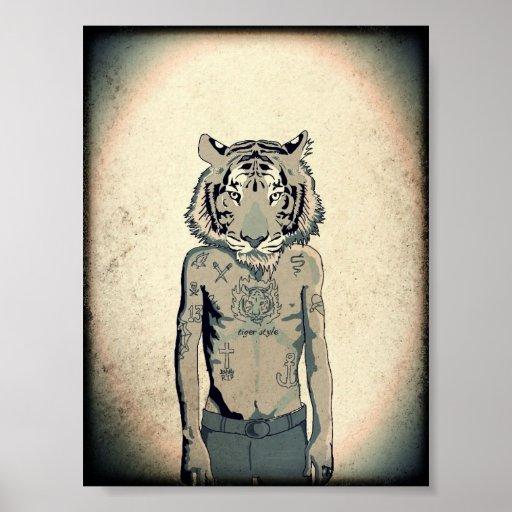 Estilo del tigre impresiones