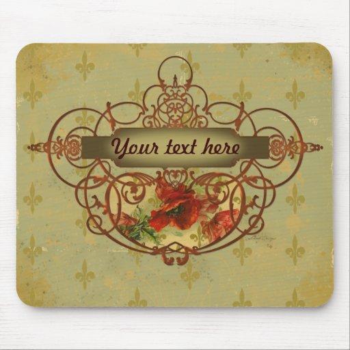 Estilo del Victorian de la flor de lis de las amap Mouse Pads