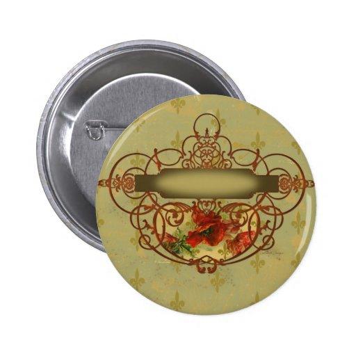 Estilo del Victorian de la flor de lis de las amap Pin