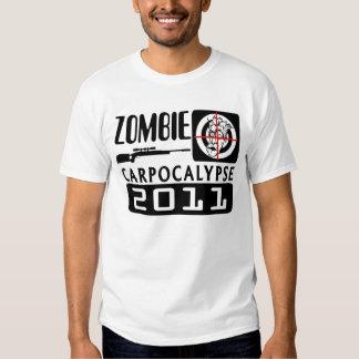 Estilo del videojuego de Carpocalypse del zombi Remera
