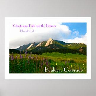 Estilo del vintage de Boulder, Colorado Póster