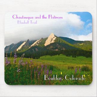 Estilo del vintage de Boulder, Colorado Tapete De Raton