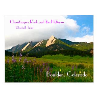 Estilo del vintage de Boulder, Colorado Tarjeta Postal