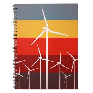 Estilo del vintage de las turbinas de viento notebook