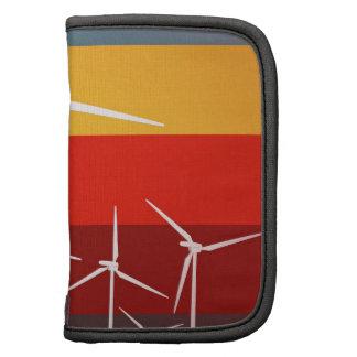 Estilo del vintage de las turbinas de viento organizadores